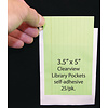"""ASHLEY PRODUCTIONS Clear View Self-Adhesive Pockets, Library Pocket, 3 1/2"""" x 5 *"""
