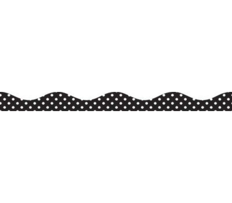 Big  Magnetic Border, Black and White Dots