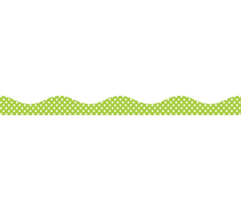 Big  Magnetic Border, Lime Dots