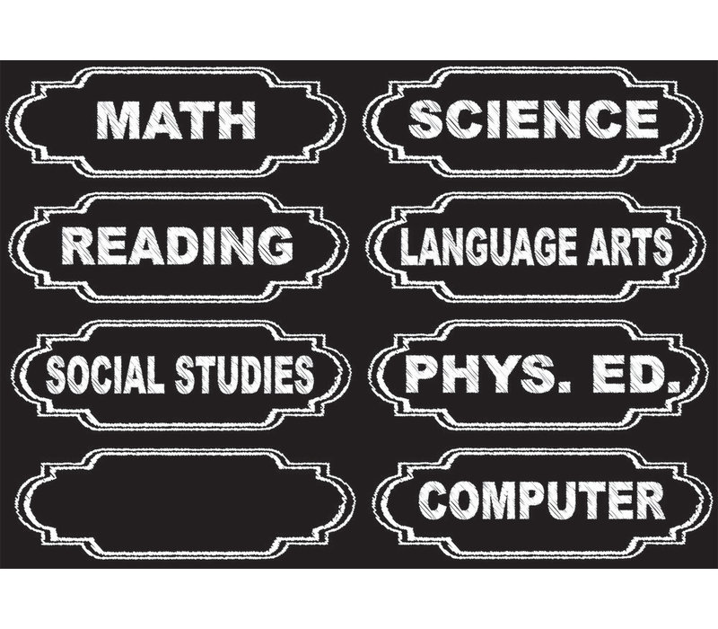 Magnetic Chalkboard Classroom Subjects