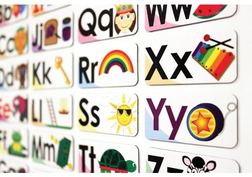 ASHLEY PRODUCTIONS Magnetic ABC Picture Words DOUBLE-SIDED