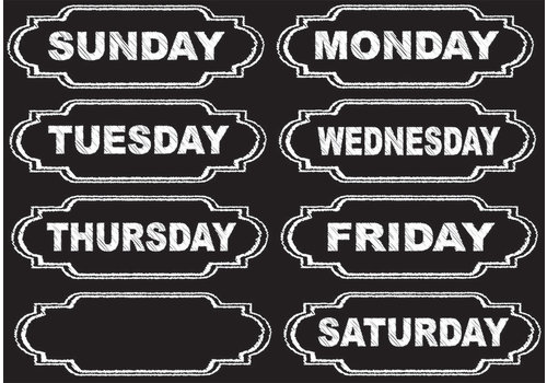 ASHLEY PRODUCTIONS Magnetic Chalkboard Days of the Week *