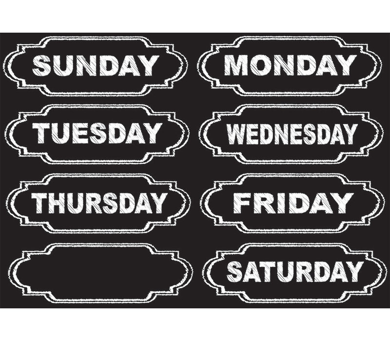 Magnetic Chalkboard Days of the Week