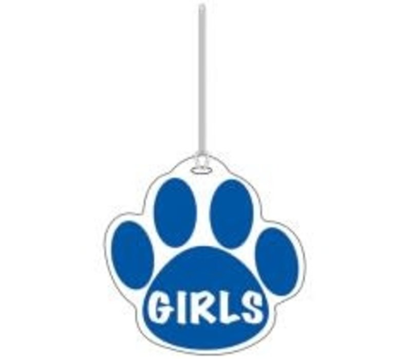 Blue Paw Girls Hall Pass