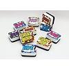 ASHLEY PRODUCTIONS Magnetic Mini Whiteboard Eraser, Set of 10 Superhero *