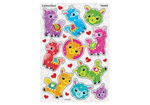 Trend Enterprises Llama Love Sparkle Sticker