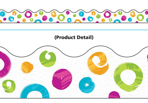 Trend Enterprises Color Harmony Swirl Dots Border *