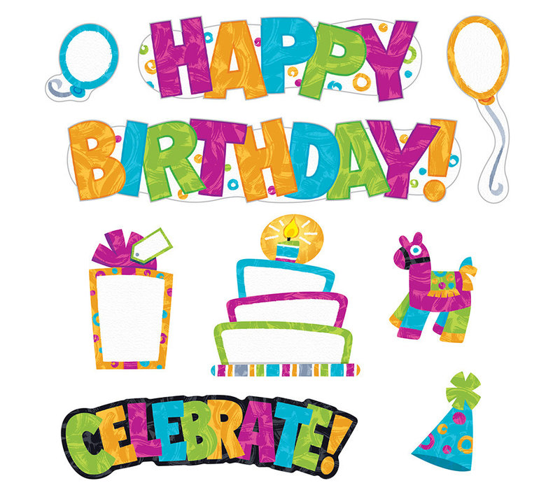Color Harmony Wipe-Off Birthday Mini BBS *