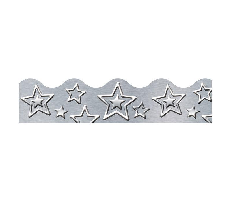 I ♥ Metal Silver Star Border*