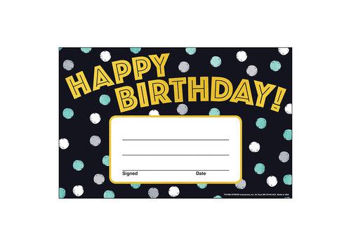 Trend Enterprises I ♥ Metal Happy Birthday Award