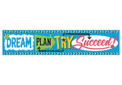 Trend Enterprises Dream, Plan, Try, Succeed Banner