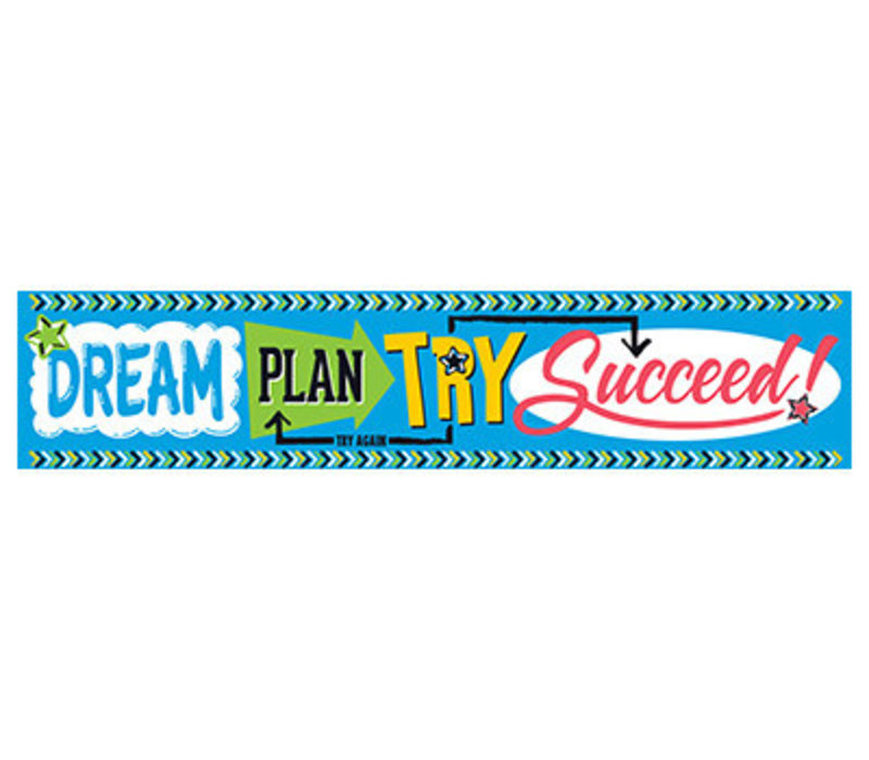 Dream, Plan, Try, Succeed Banner *