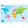 ASHLEY PRODUCTIONS Learning Mat World Map *