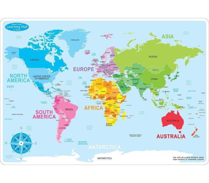 Learning Mat World Map *