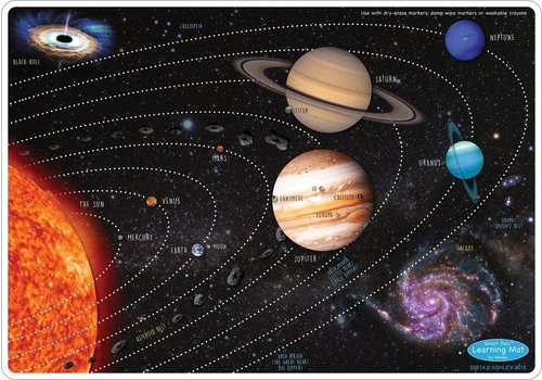 ASHLEY PRODUCTIONS Learning Mat Solar System