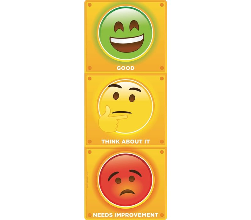 Stop Light Personal Behavior Smart Poly Clip Chart *