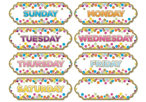 ASHLEY PRODUCTIONS Magnetic Confetti Days of the Week *