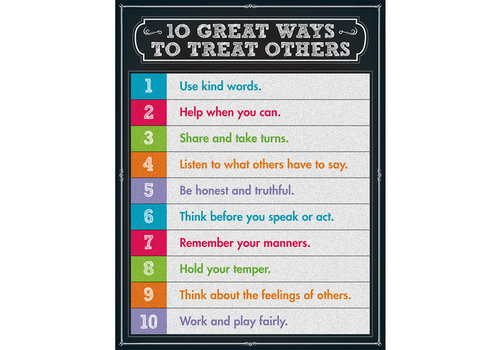 Carson Dellosa 10 Great Ways to Treat Others Chart