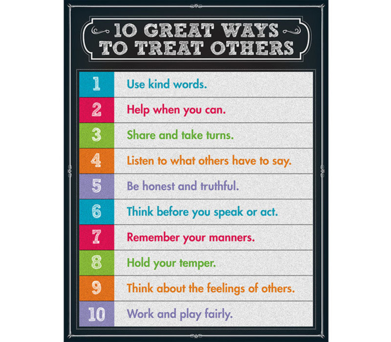 10 Great Ways to Treat Others Chart*