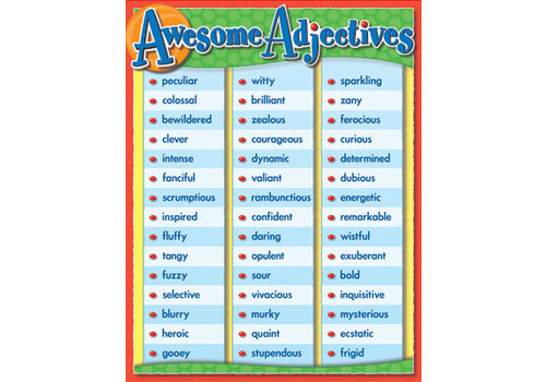 Carson Dellosa Awesome Adjectives Poster*