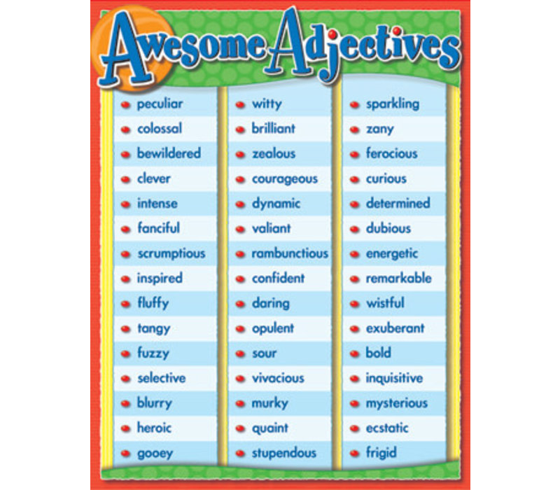 Awesome Adjectives Poster