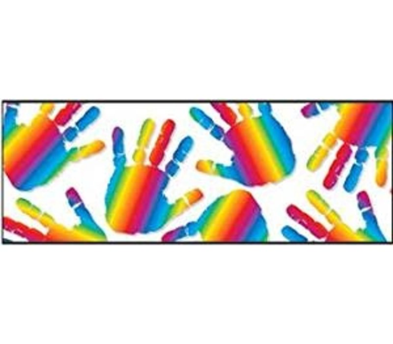 Rainbow Handprints Border *(D)