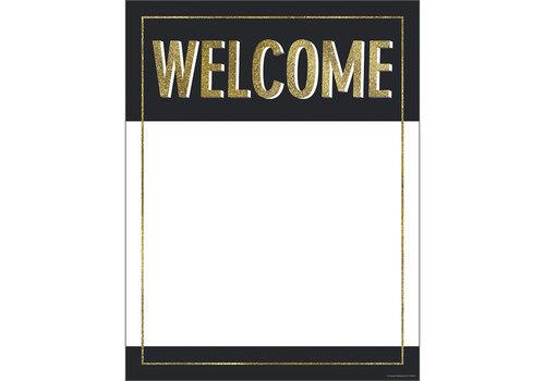 Carson Dellosa Welcome Gold Glitter Chart