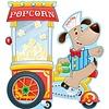 Carson Dellosa Poppin Popcorn Bulletin Board Set