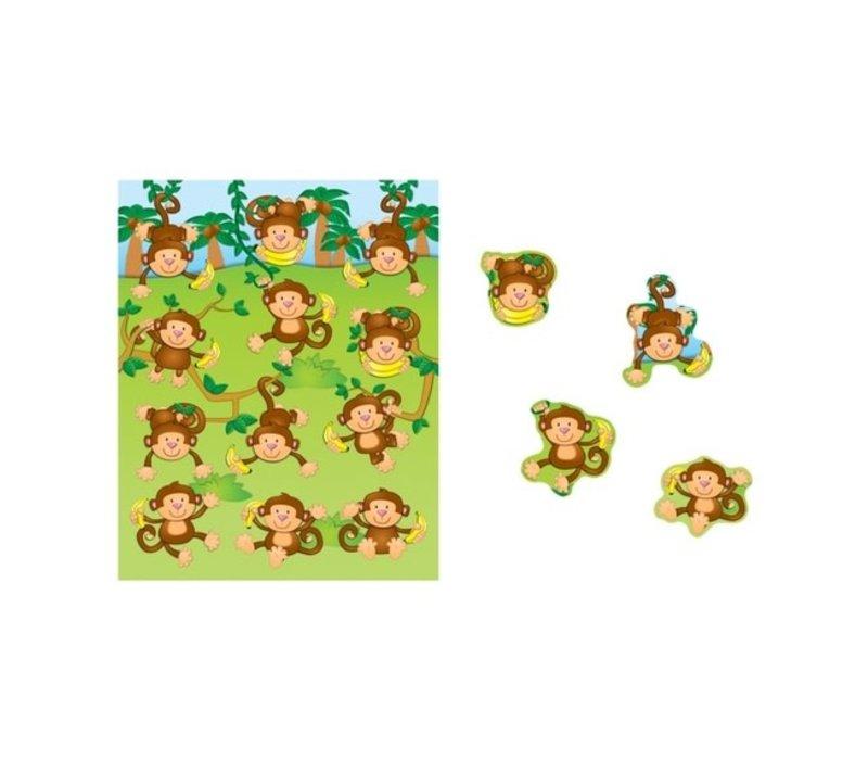 Monkeys Shape Stickers