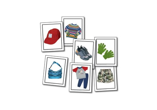 Carson Dellosa Nouns Children's Clothing Learning Cards*