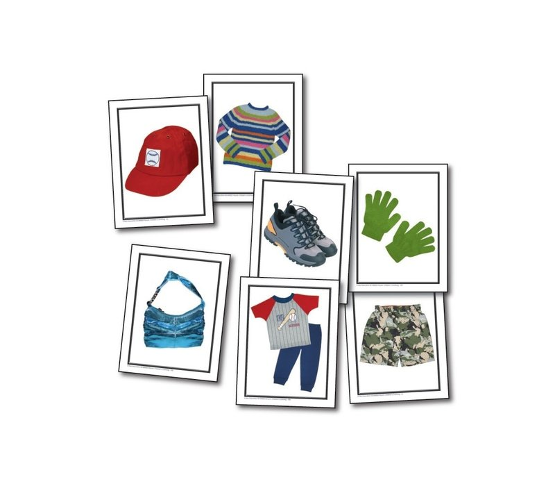 Nouns Children's Clothing Learning Cards