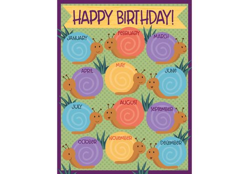 Carson Dellosa Nature Explorers (snails) Birthday Chart*