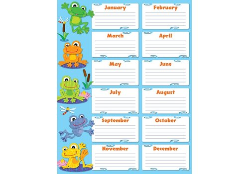 Carson Dellosa FUNky Frogs Birthday Chart*