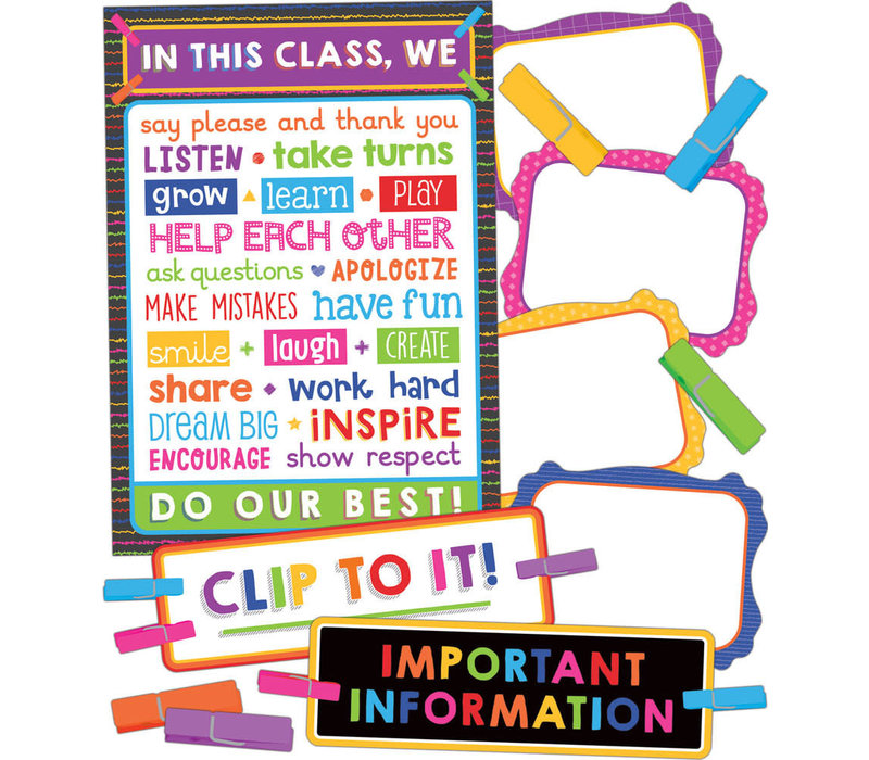 Clip Chart Classroom Management Bulletin Board Set
