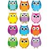Carson Dellosa Colorful Owls Cut-Outs