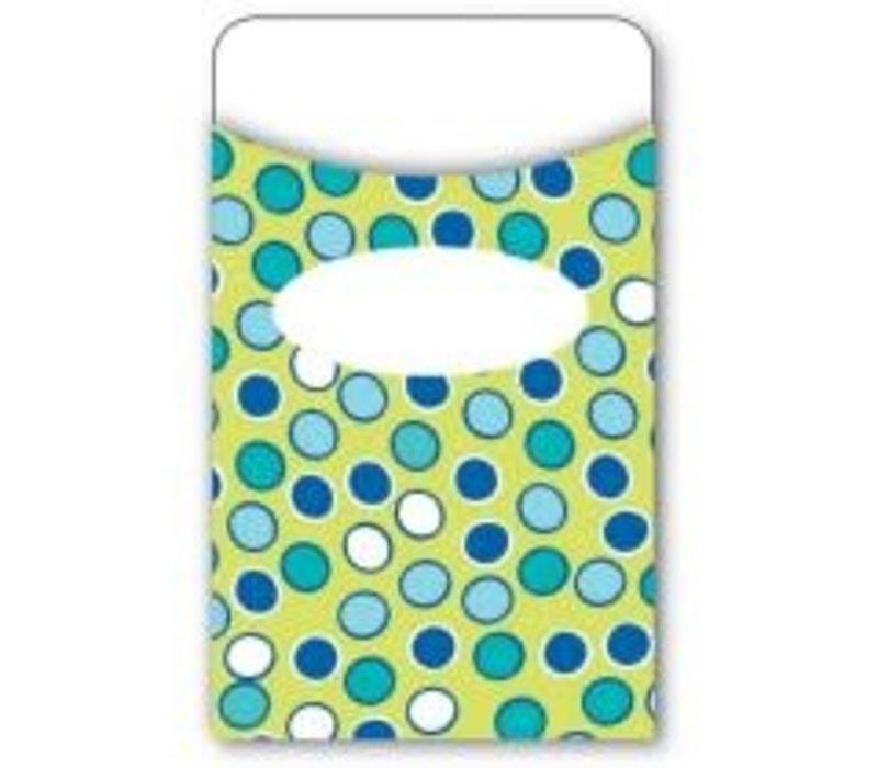Bubbly Blues Library Pockets (D) *