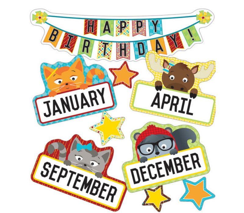 Hipster Birthday Mini Bulletin Board Set