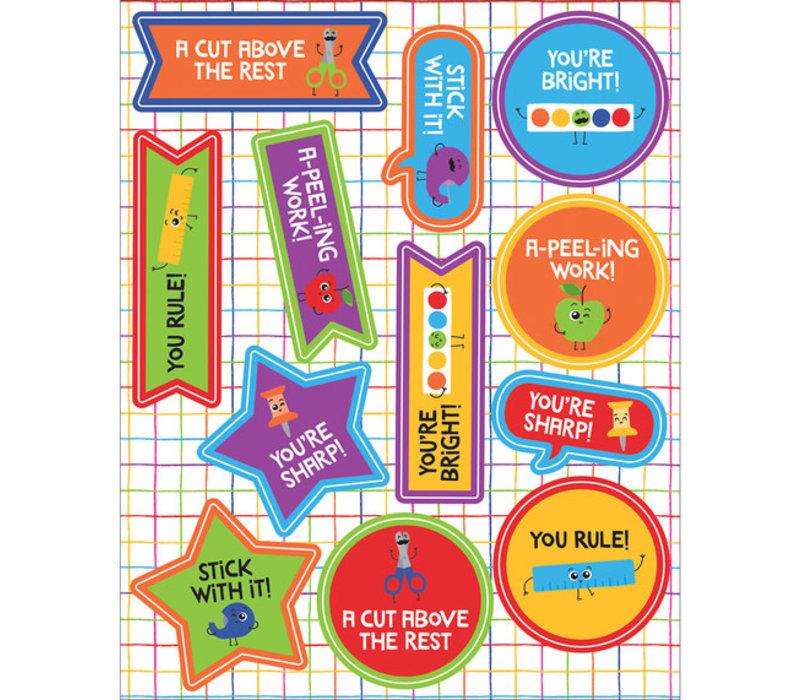 School Tools Motivators Motivational Stickers *