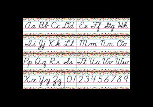 Teacher Created Resources Confetti Cursive Alphabet Line Bulletin Board *