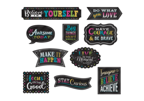 Teacher Created Resources Clingy Thingy Chalkboard Brights Positive Sayings