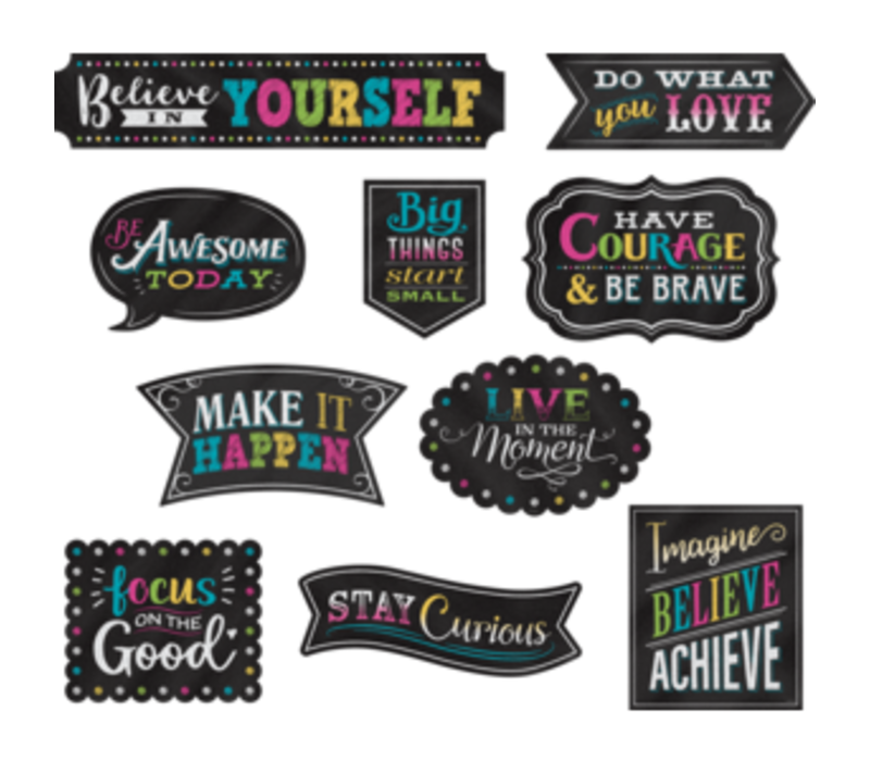 Clingy Thingy Chalkboard Brights Positive Sayings *