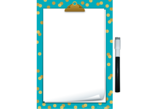Teacher Created Resources Clingy Thingies - Teal Confetti Small Note Sheet