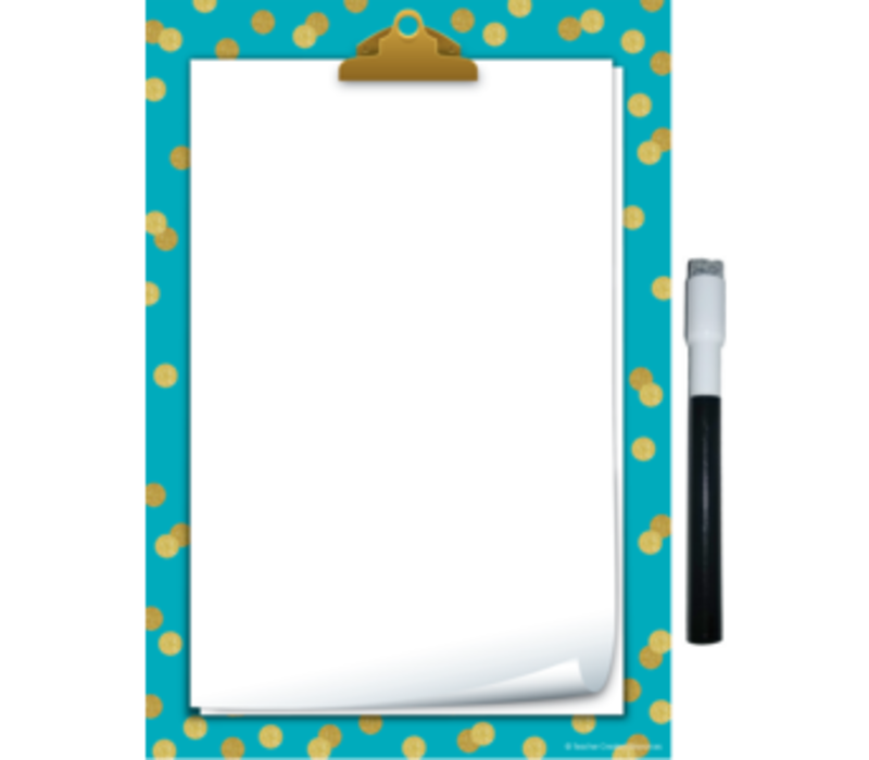 Clingy Thingies - Teal Confetti Small Note Sheet