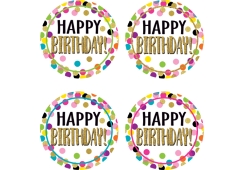 Teacher Created Resources Confetti Happy Birthday Badge