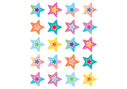 Teacher Created Resources Colorful Vibes Star Stickers