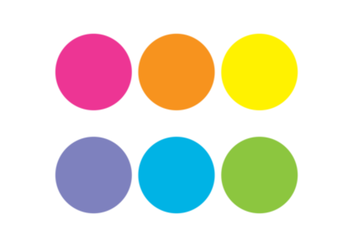 """Teacher Created Resources Spot On Carpet Markers Bright Circles 7"""""""