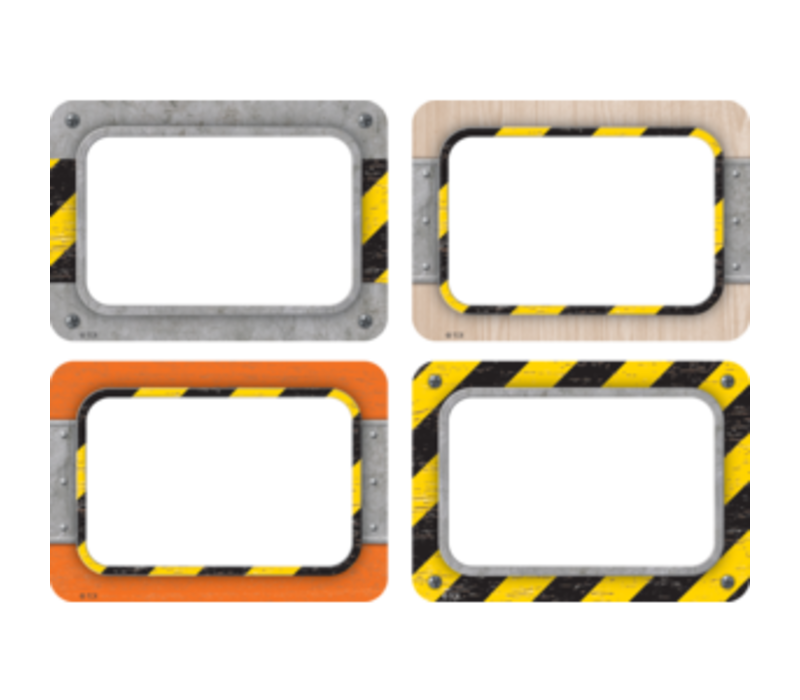 Under Construction Name Tags/Labels *