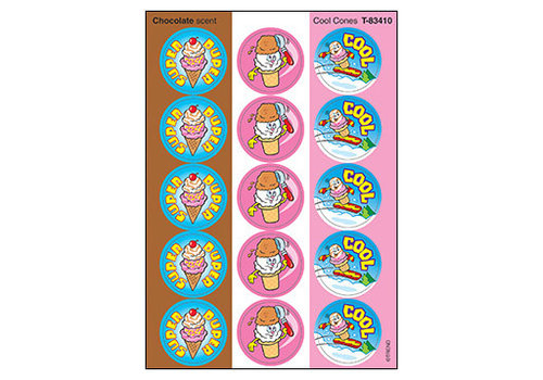 Trend Enterprises Cool Cones/Chocolate Stinky Stickers