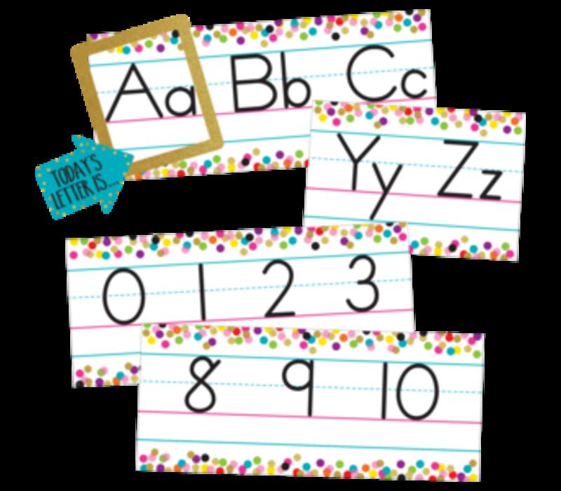 Confetti Alphabet Line Bulletin Board *