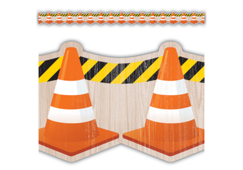 Teacher Created Resources Under Construction Cones Die-Cut Border Trim*